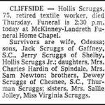 Scruggs, Hollis, May 21, 1981