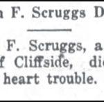 Scruggs, John F., July 6, 1917