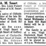 Smart, Lizzie Padgett, Nov. 3, 1969