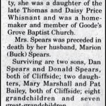 Spears, Lois Whisnant, May 6, 2001