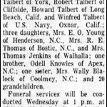 Talbert, Mrs. J. A., Dec. 15, 1956