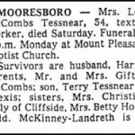 Tessnear, Lois McCombs, May 30, 1981