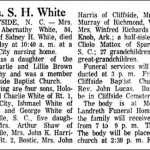 White, Mettie Abernathy, Jan. 10, 1968