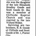 Wilkie, Mary Goode, July 10, 1981