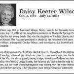 Wilson, Daisy Keeter, July 12, 2017