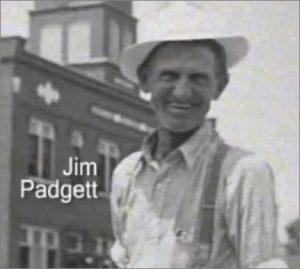 Jim Padgett in downtown Cliffside.