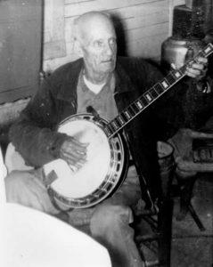 George Brooks playing his banjo