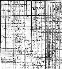 A fragment of a messy census sheet