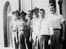 L-R: Max Monroe, Jim Gibson, Lassie Humphries, Fred Daves, Hal Miller, Pink Honeycutt
