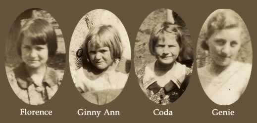The sisters are Florence, Ginny Ann, Coda and Genie.