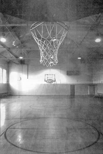 The interior of the gymnasium, built in 1940.