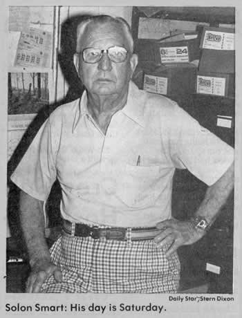 "Title under photo of Solon: ""Solon Smart: His day is Saturday."""